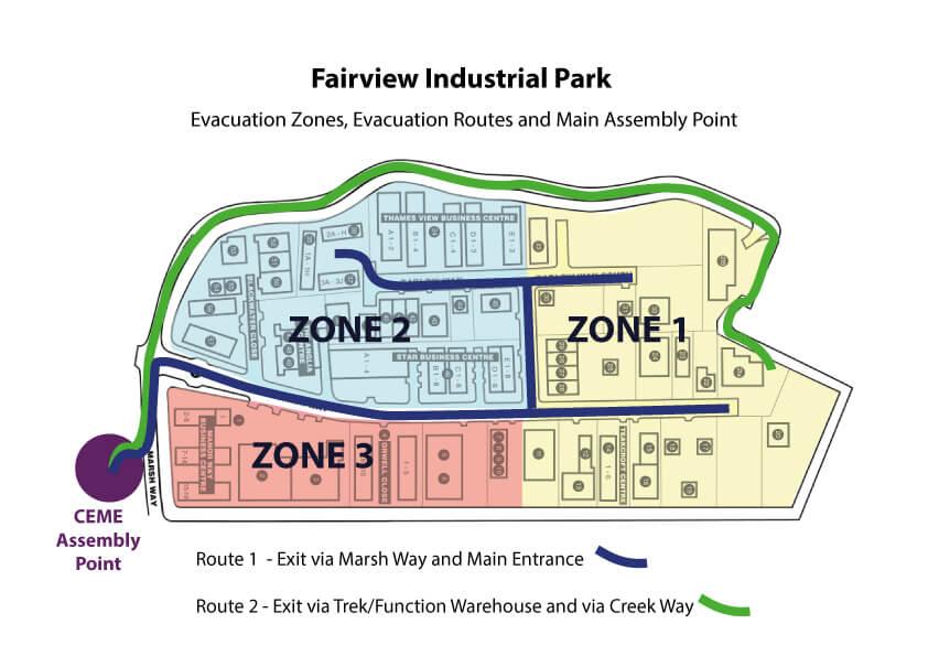 FairView Ind Park Evacuation Plan 2018